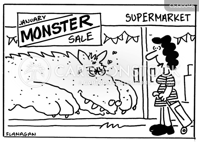 january sales cartoon