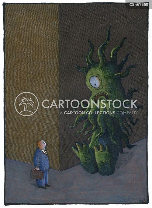 back alleys cartoon