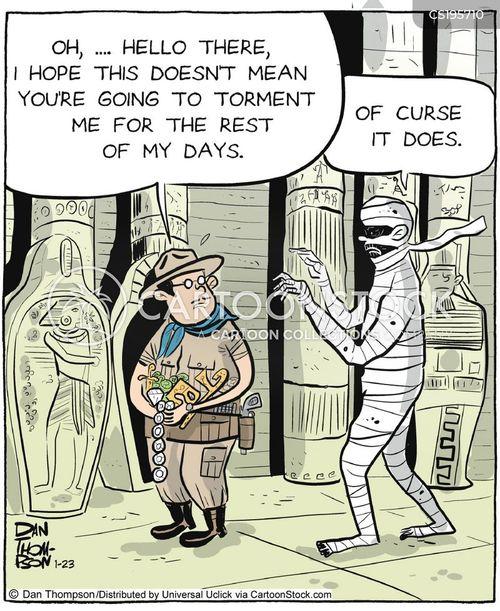 egyptian tomb cartoon