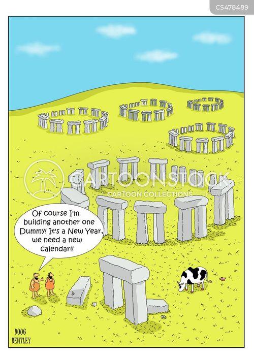 ancient monuments cartoon