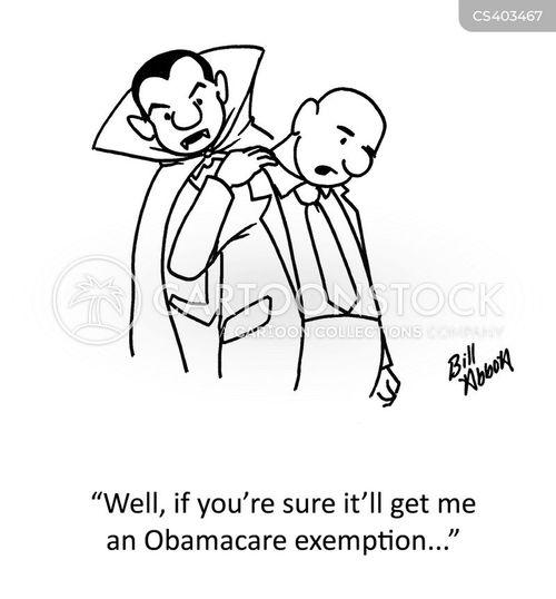 exemptions cartoon