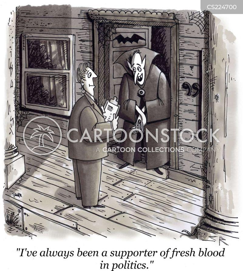 sucking blood cartoon