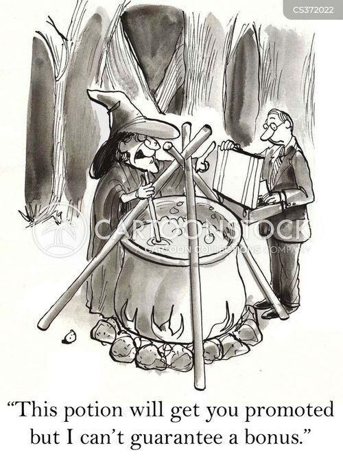 spell caster cartoon