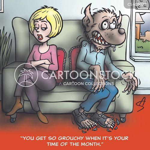 premenstrual tension cartoon