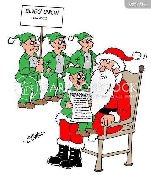 labour disputes cartoon
