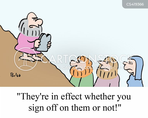 sign off cartoon