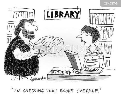 book loans cartoon