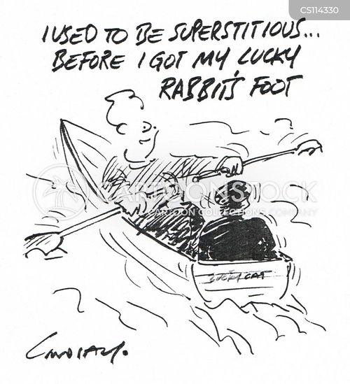 rabbits feet cartoon