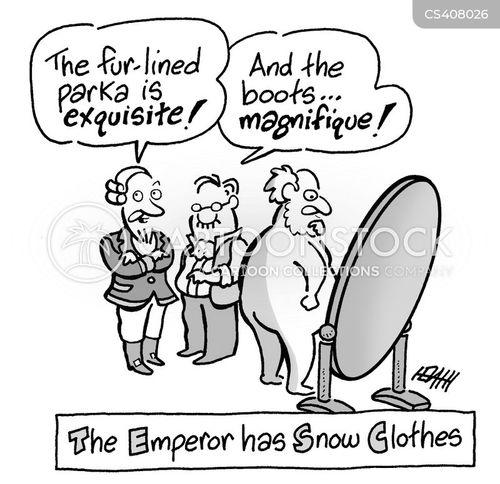 snow clothing cartoon
