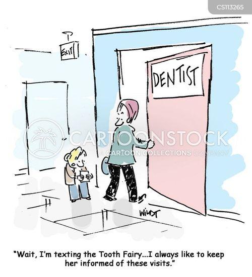 oral health cartoon