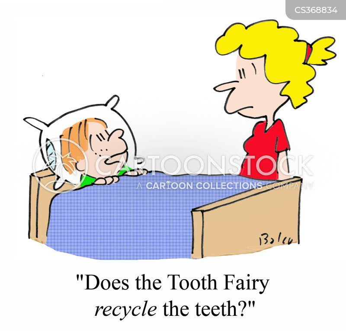 milk tooth cartoon