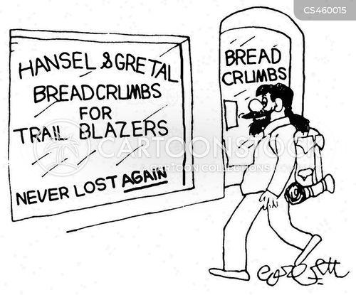 breadcrumb cartoon