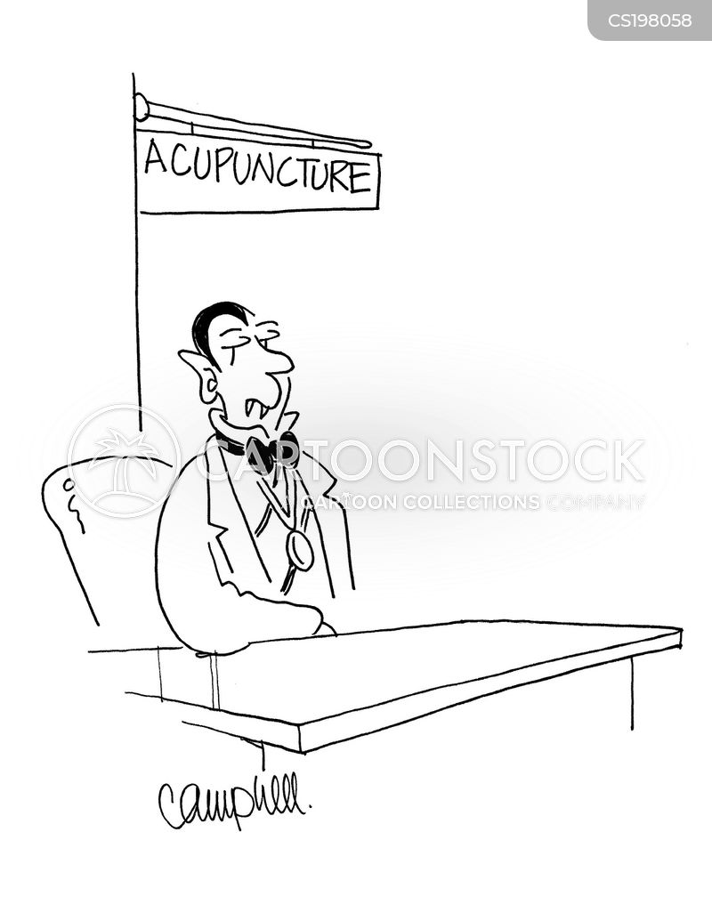 acupuncturist cartoon