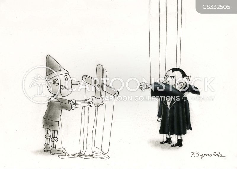 puppet strings cartoon