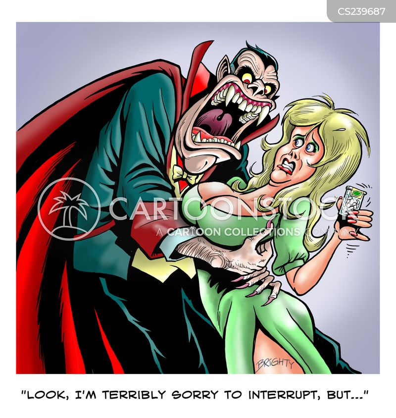 vampire bite cartoon