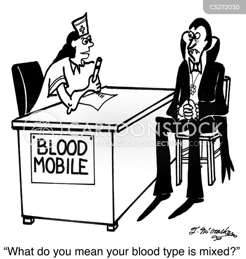 blood mobile cartoon