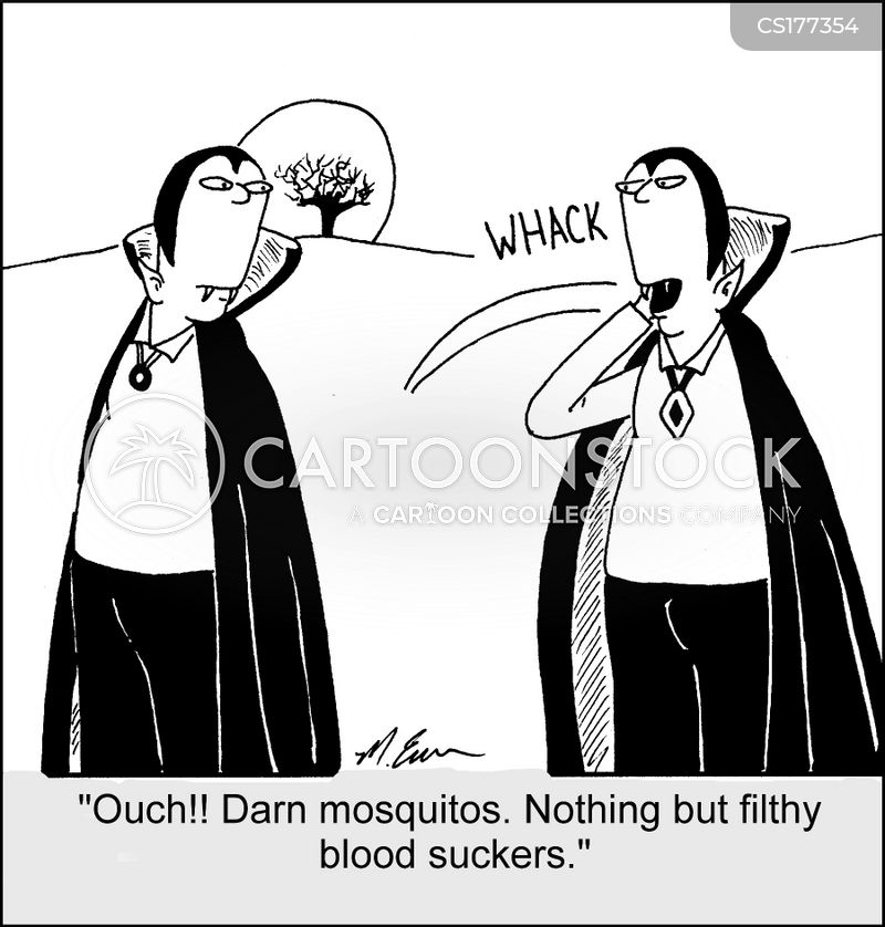 mosquito bites cartoon