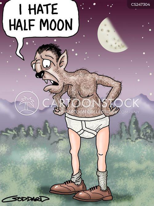 moon cycle cartoon