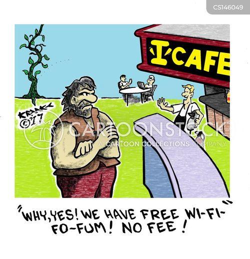 free wi-fi cartoon