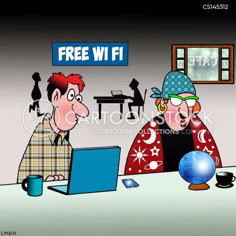 wi-fi connections cartoon