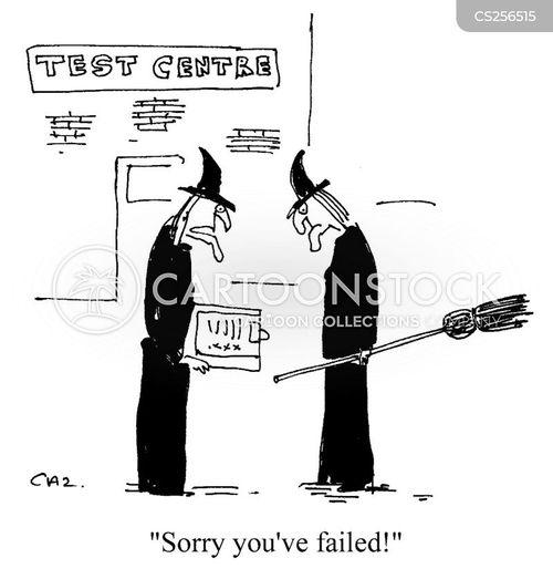 driving test centre cartoon