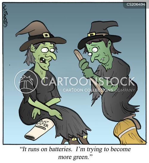 broomsticks cartoon