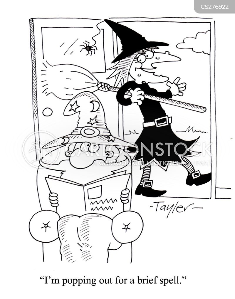 casting spells cartoon