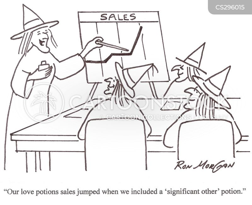sales projection cartoon