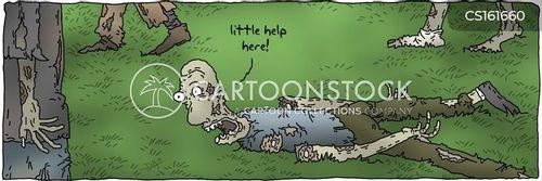 zombie attacks cartoon