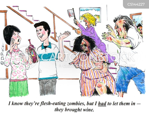 ghoulish cartoon