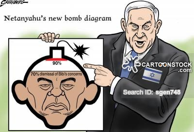 Image result for ISRAELI NUCLEAR BOMB CARTOON