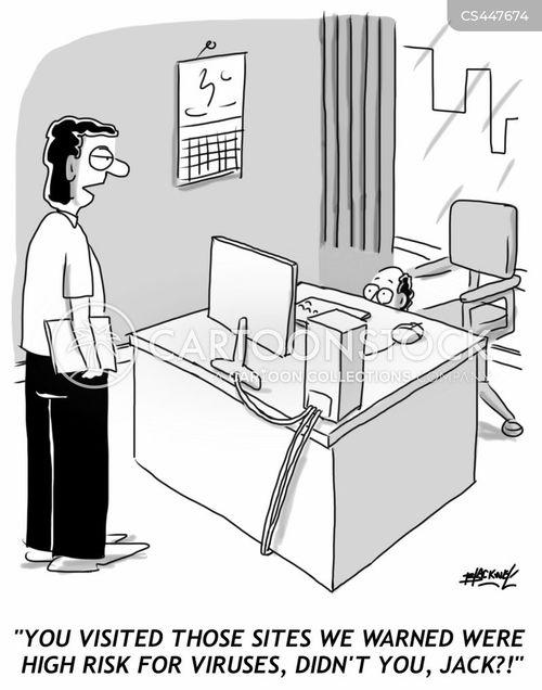 surfing internet cartoon