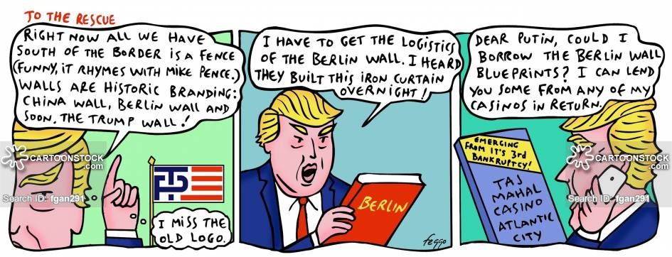 Berlin Wall News and Political Cartoons