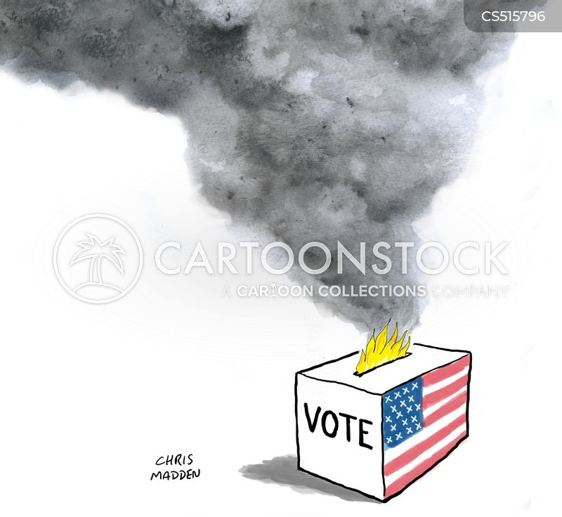 voter suppression cartoon