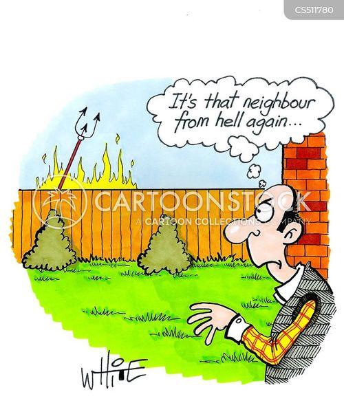 next door neighbour cartoon