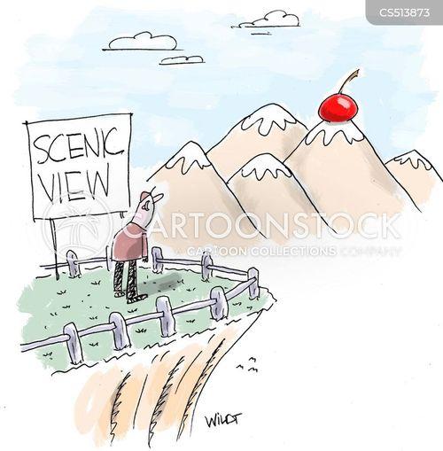 view point cartoon
