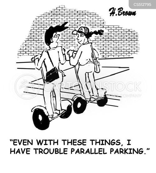 parallel parking cartoon