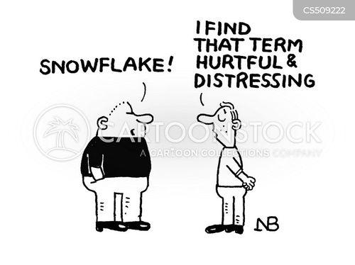 overly sensitive cartoon