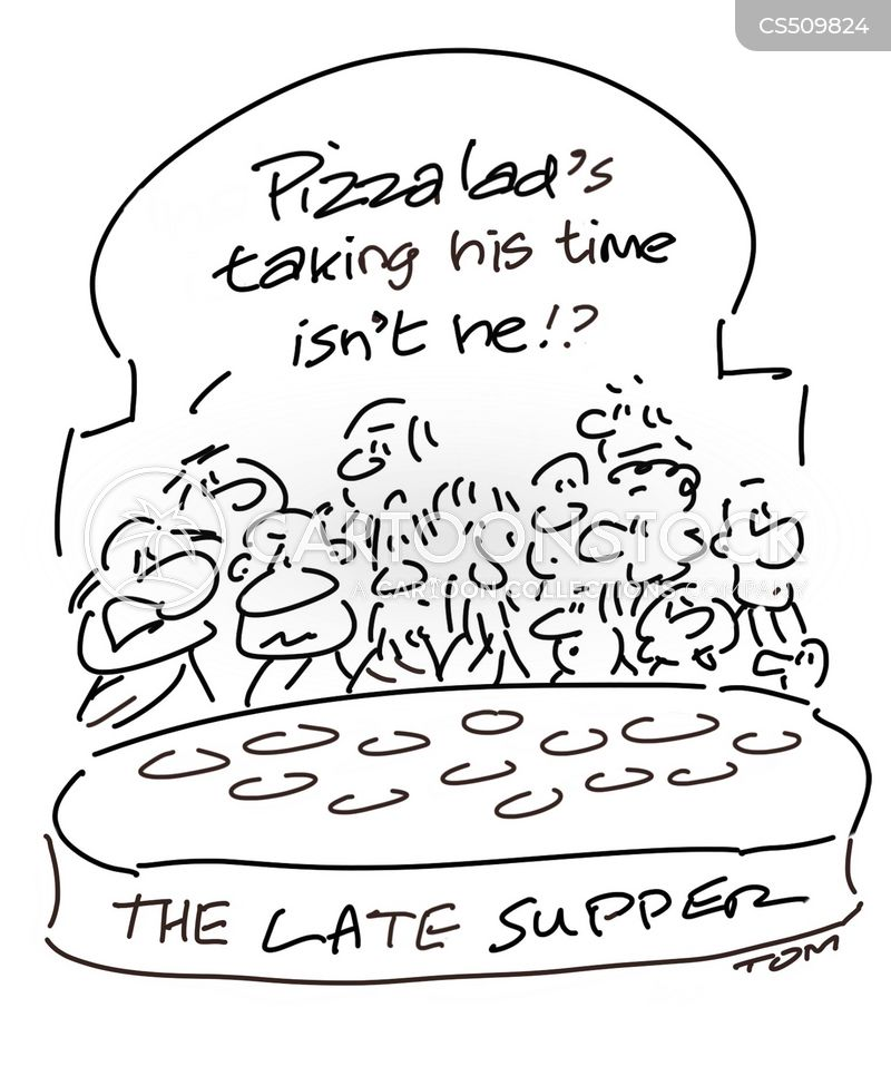 takeaway pizza cartoon
