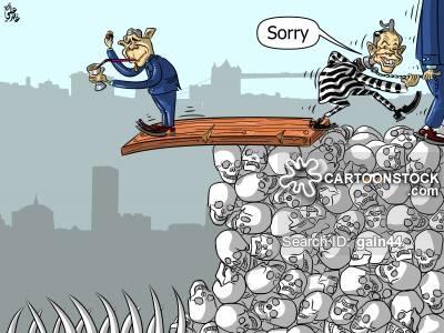 War Crimes News and Political Cartoons