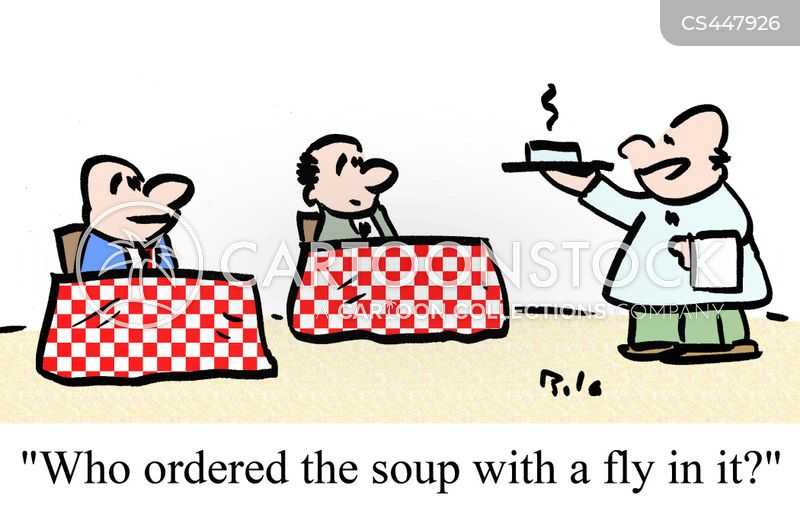 fly in my soup cartoon