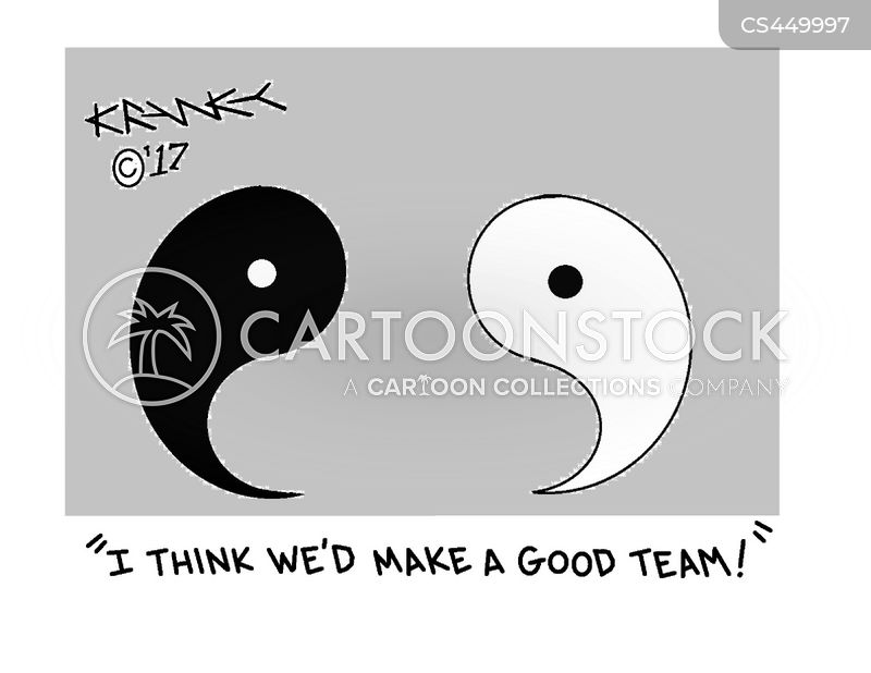 yin-yang cartoon