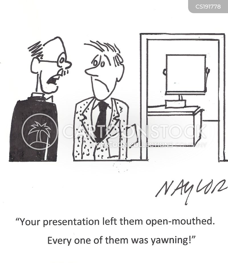 yawning cartoon