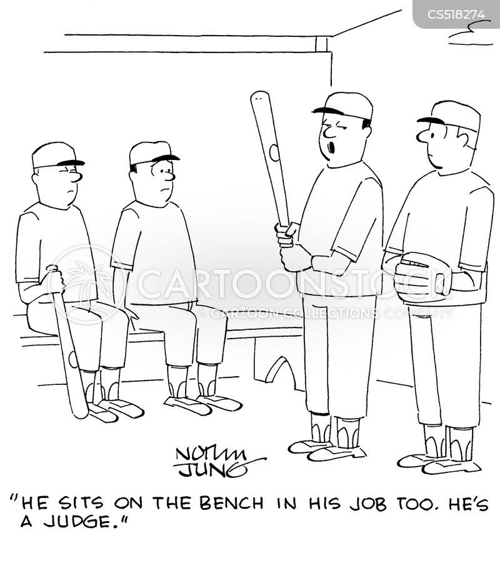 bench warmers cartoon