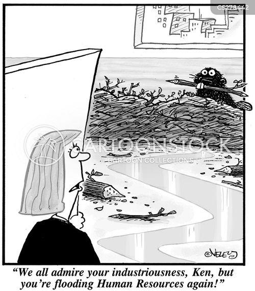 industrious cartoon