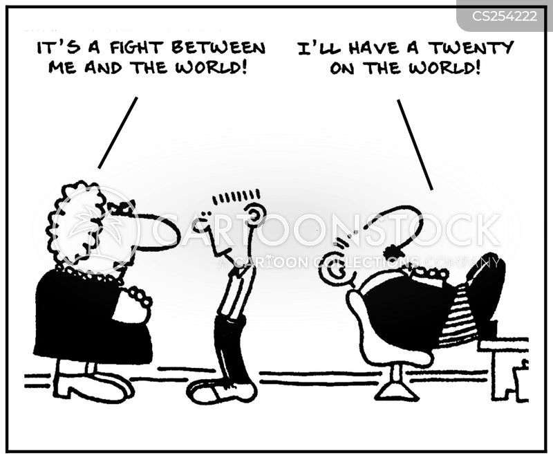 uphill struggles cartoon