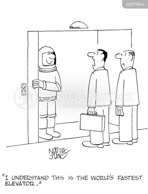 elevator operators cartoon