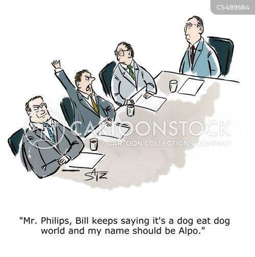 corporate bully cartoon