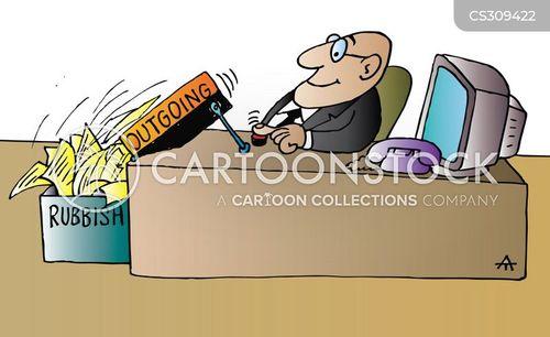 outgoing cartoon