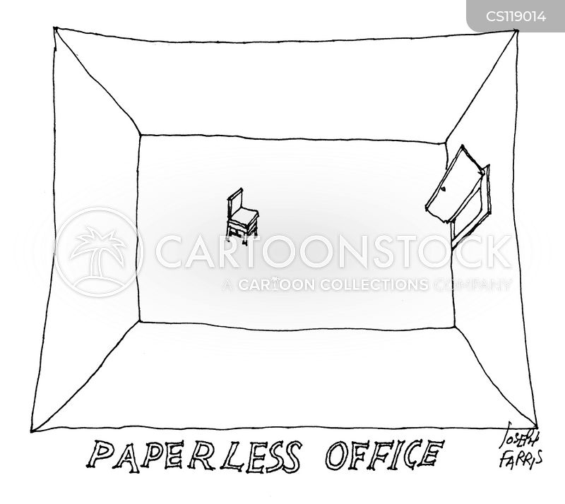 empty office cartoon
